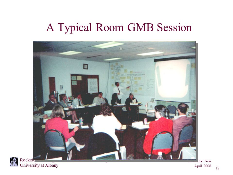 GP Richardson April 2008 12 Rockefeller College of Public Affairs and Policy University at Albany A Typical Room GMB Session