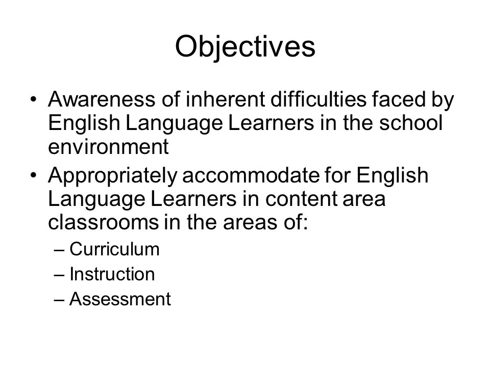 Who are your English Language Learners.