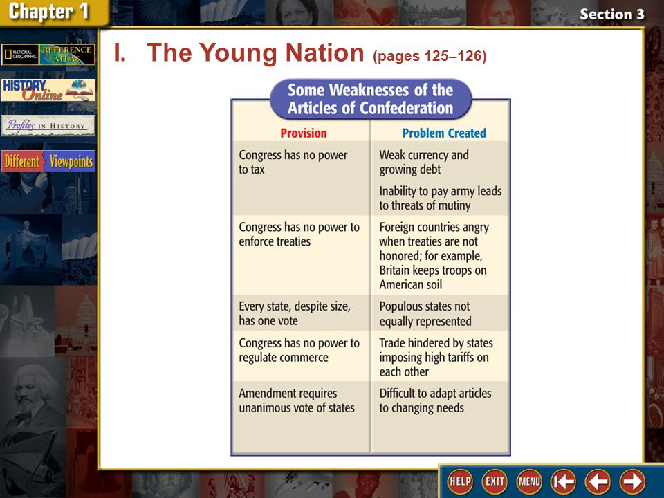 Section 3 DLN-4 I.The Young Nation (pages 125–126)
