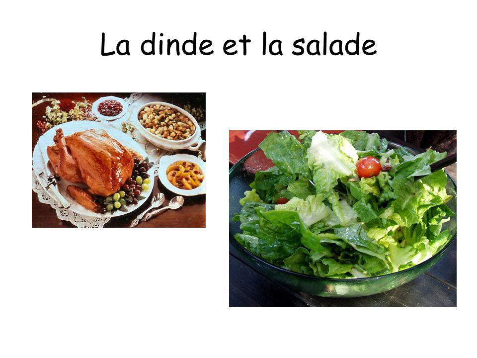 La dinde et la salade