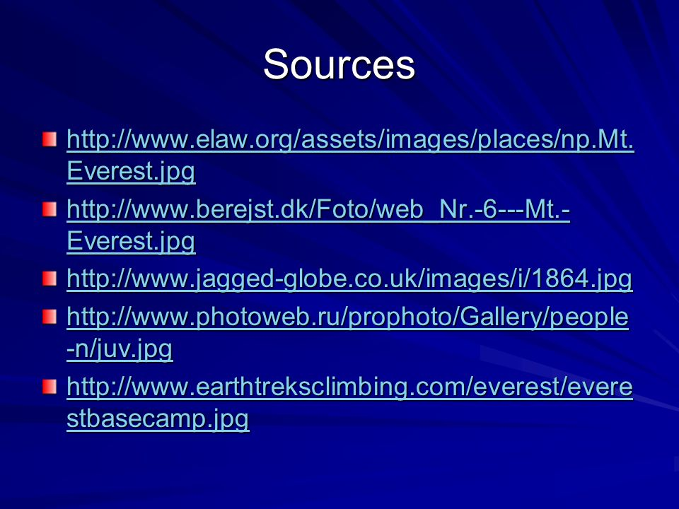 Sources http://www.elaw.org/assets/images/places/np.Mt.