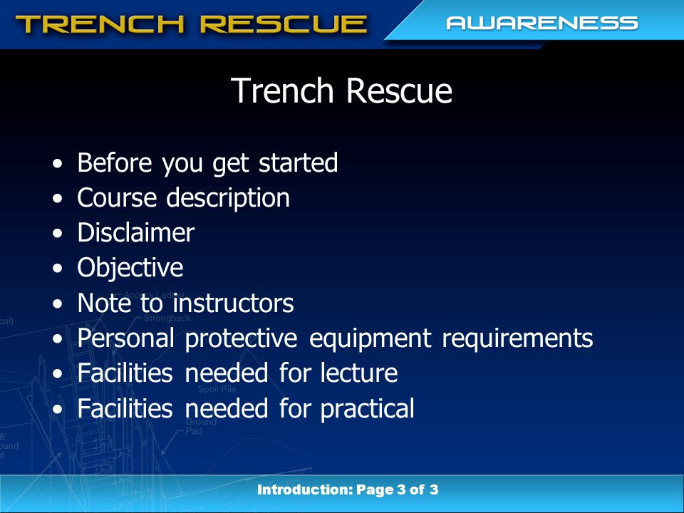 Unit Eight: Terminal Objective Describe the various types of trench collapses and why the occur.