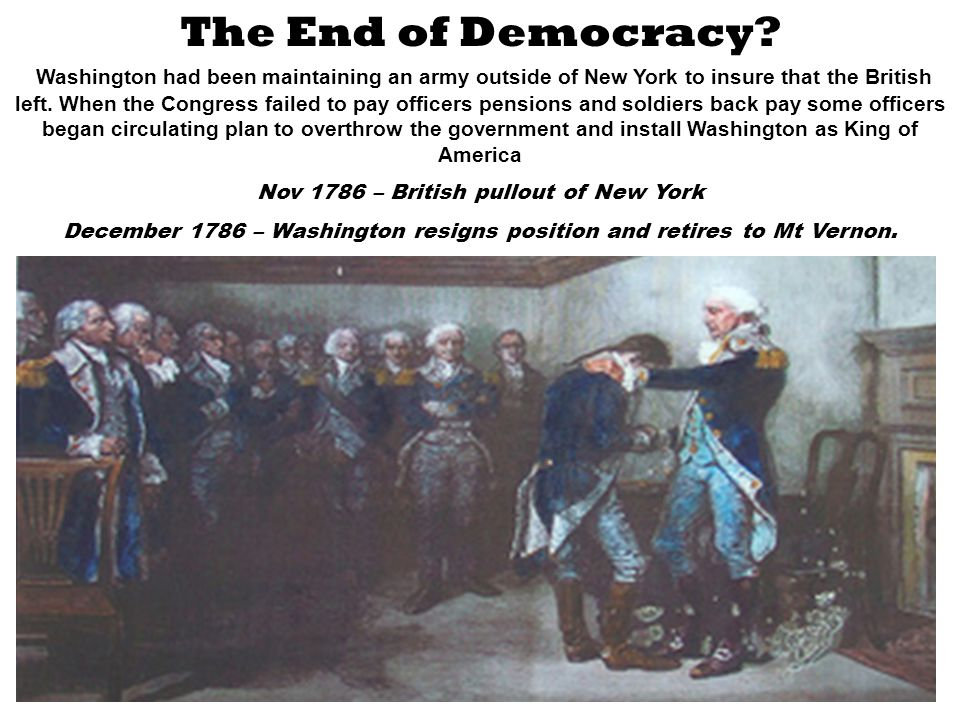 The End of Democracy.