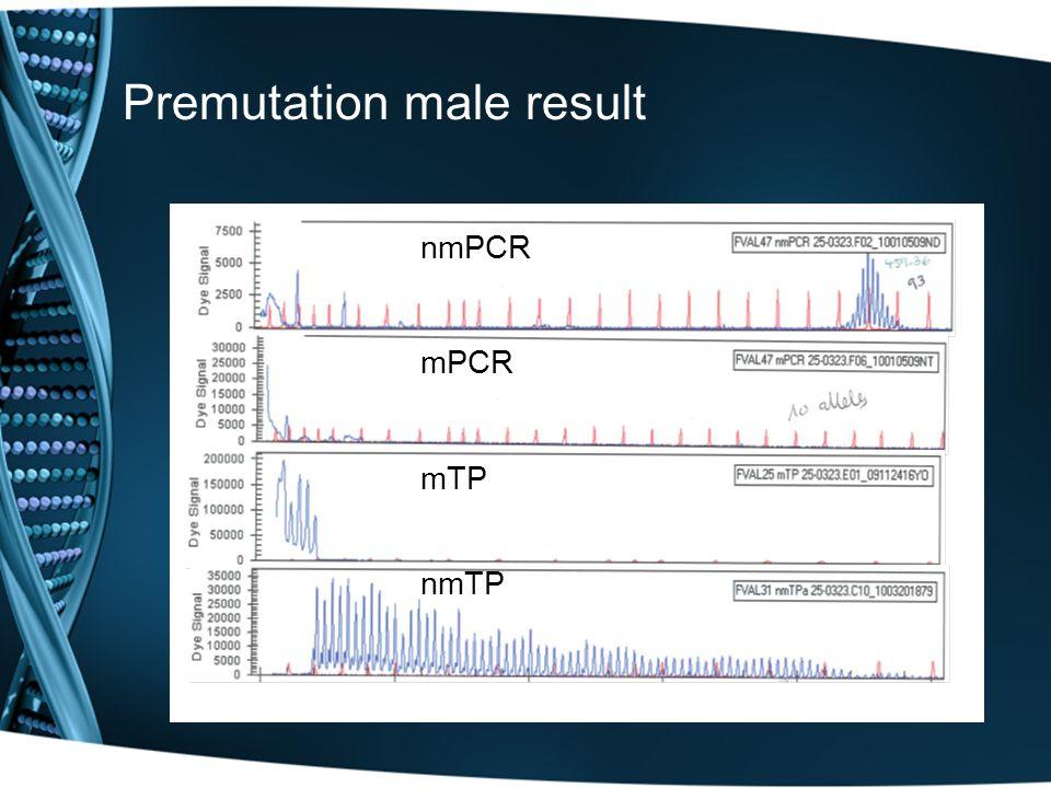 Premutation male result nmPCRmPCRmTPnmTP