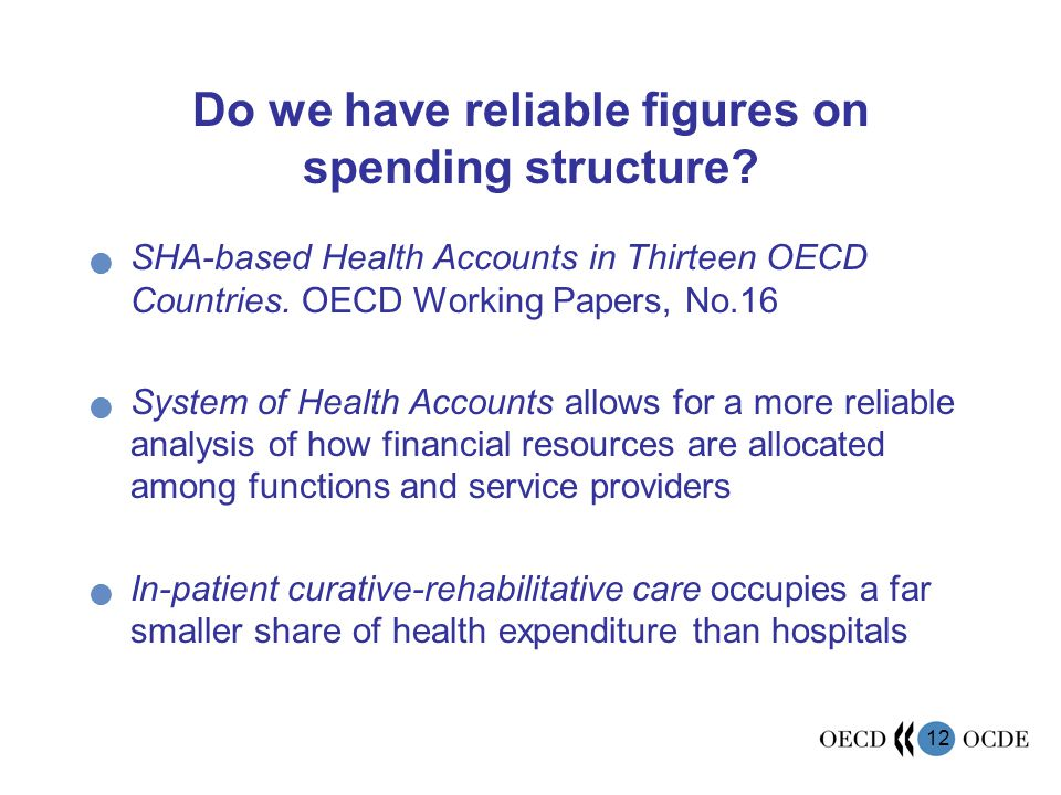 12 Do we have reliable figures on spending structure.
