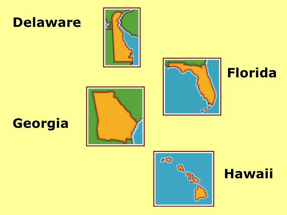 Delaware Florida Georgia Hawaii