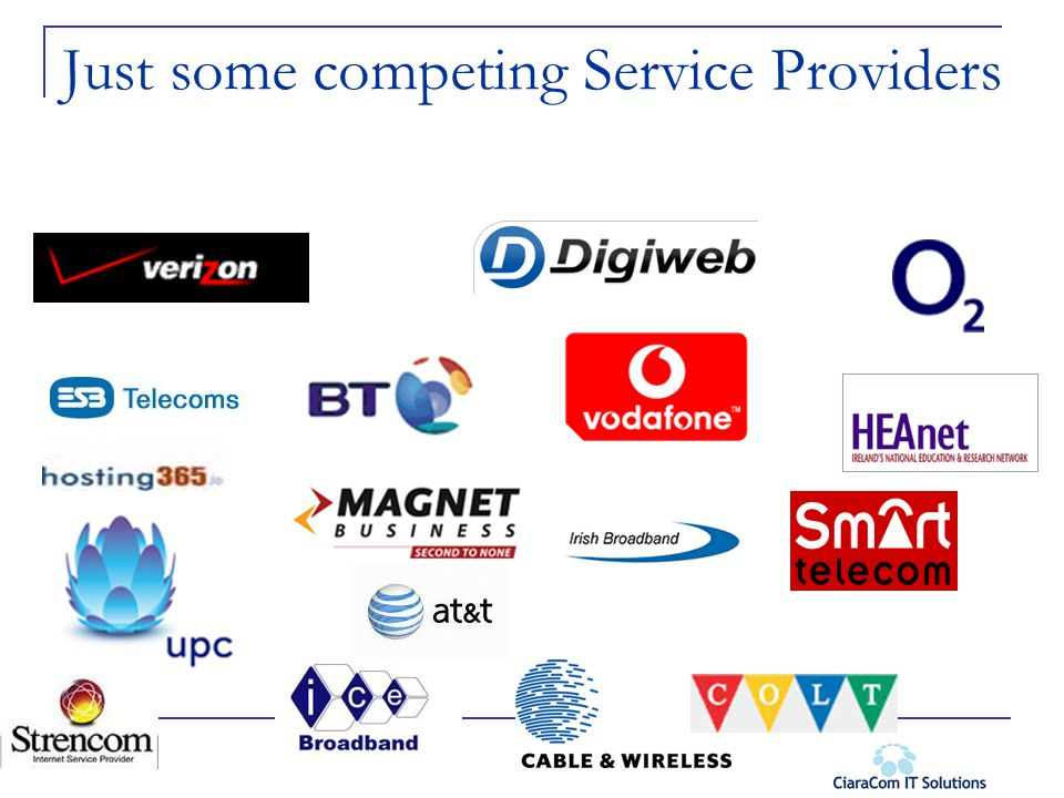 Just some competing Service Providers