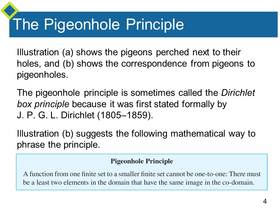 5 Example 1 – Applying the Pigeonhole Principle a.