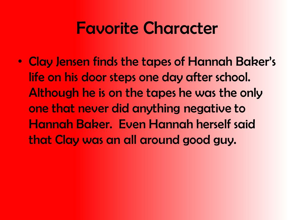 Least Favorite Character My least favorite character would not be just one person but a group.