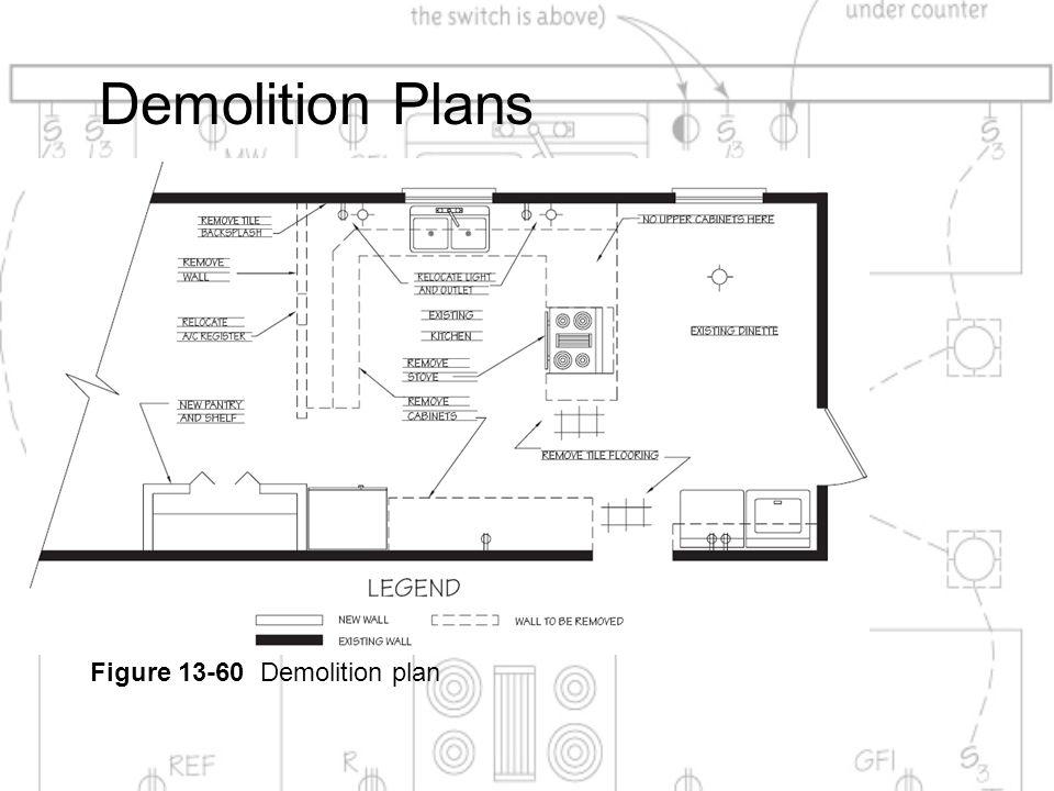 Demolition Plans Figure 13-60 Demolition plan