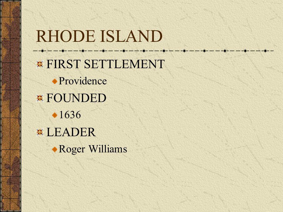 COLONY # 6 RHODE ISLAND 1636