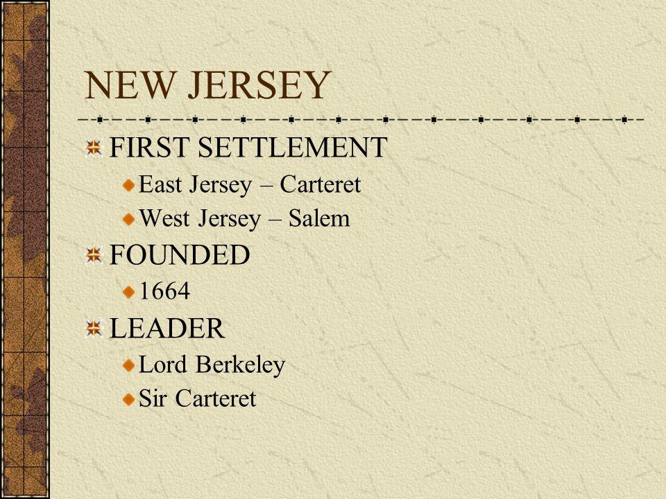 COLONY # 11 NEW JERSEY 1664