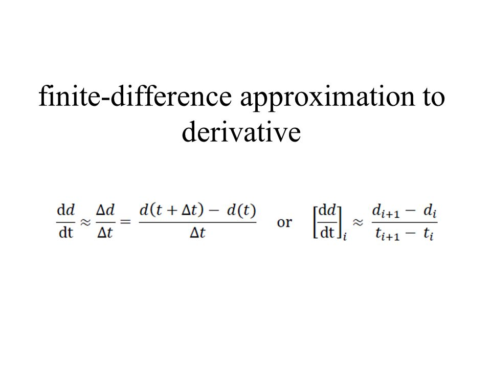 finite-difference approximation to derivative