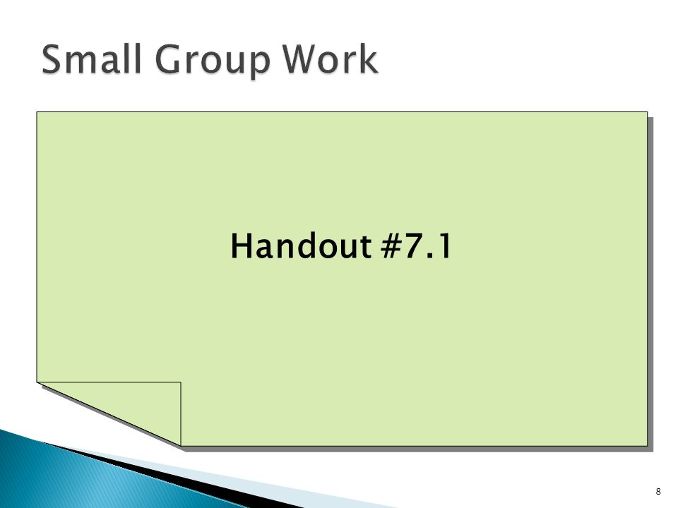 Handout #7.1 8