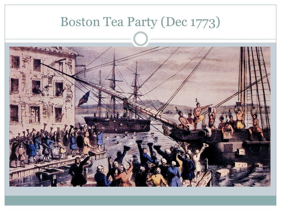 Boston Tea Party (Dec 1773)