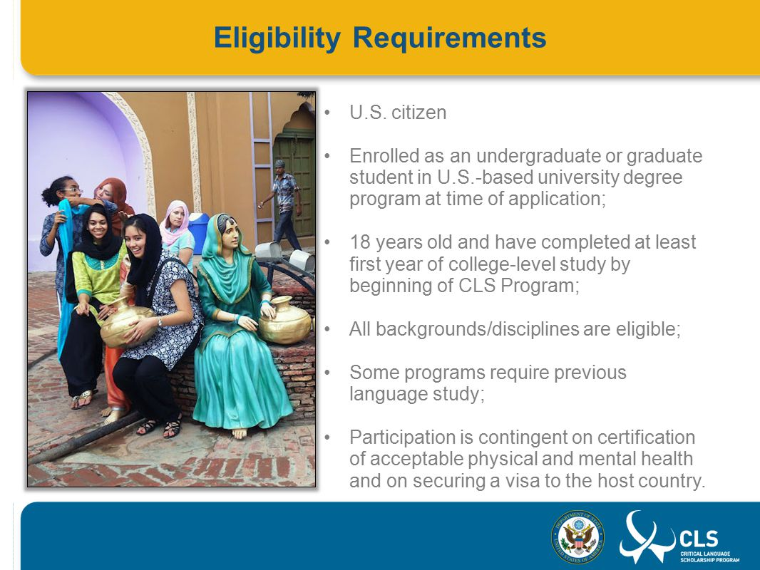 Eligibility Requirements U.S.