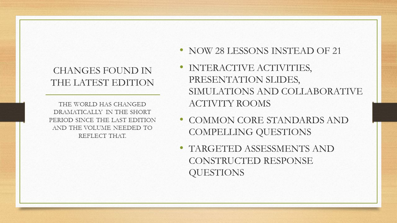 PROFESSIONAL DEVELOPMENT VIDEOS VIDEOS OF MASTER TEACHERS MODELING INDIVIDUAL LESSONS CURRENTLY TWO HAVE BEEN PRODUCED (LESSONS 13 AND 18) AND A THIRD ON THE WAY (LESSON 8) LESSONS 13 AND 18 CAN NOW BE OBSERVED ON THE BOOK'S COMPANION WEBSITE COMPANION SITE: http://hseconomics.councilforeconed.org