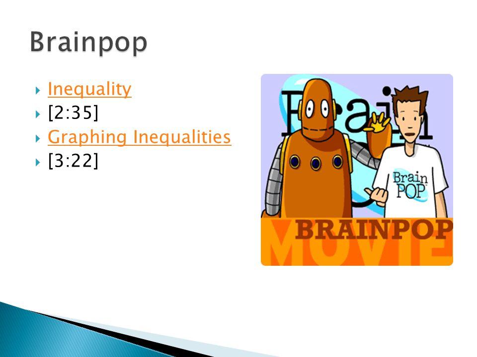  Inequality Inequality  [2:35]  Graphing Inequalities Graphing Inequalities  [3:22]