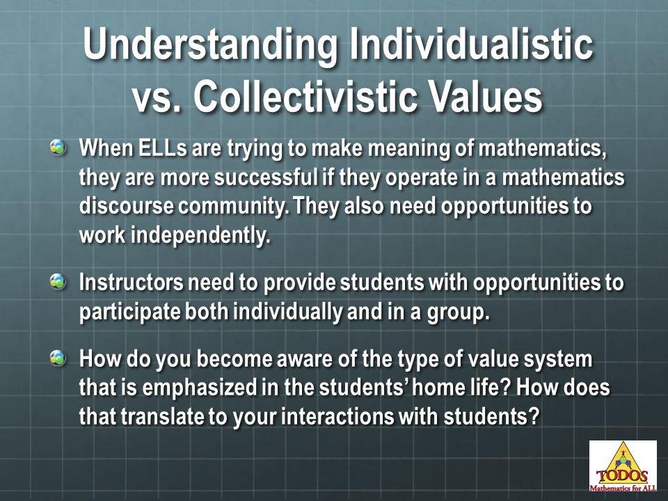Understanding Individualistic vs.