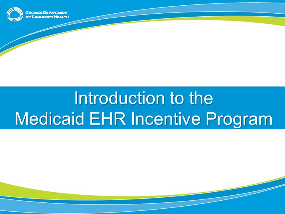 Title or Chapter Slide (use as needed; feel free to delete) Chapter Slide – (feel free to delete if not needed) Introduction to the Medicaid EHR Incentive Program