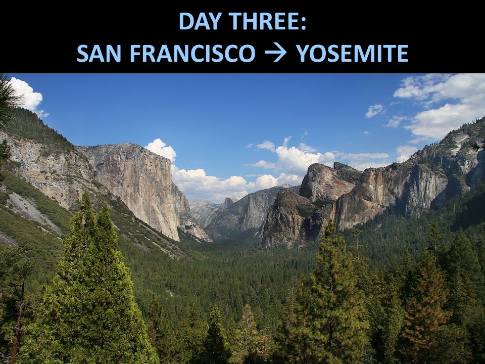 DAY THREE: SAN FRANCISCO  YOSEMITE