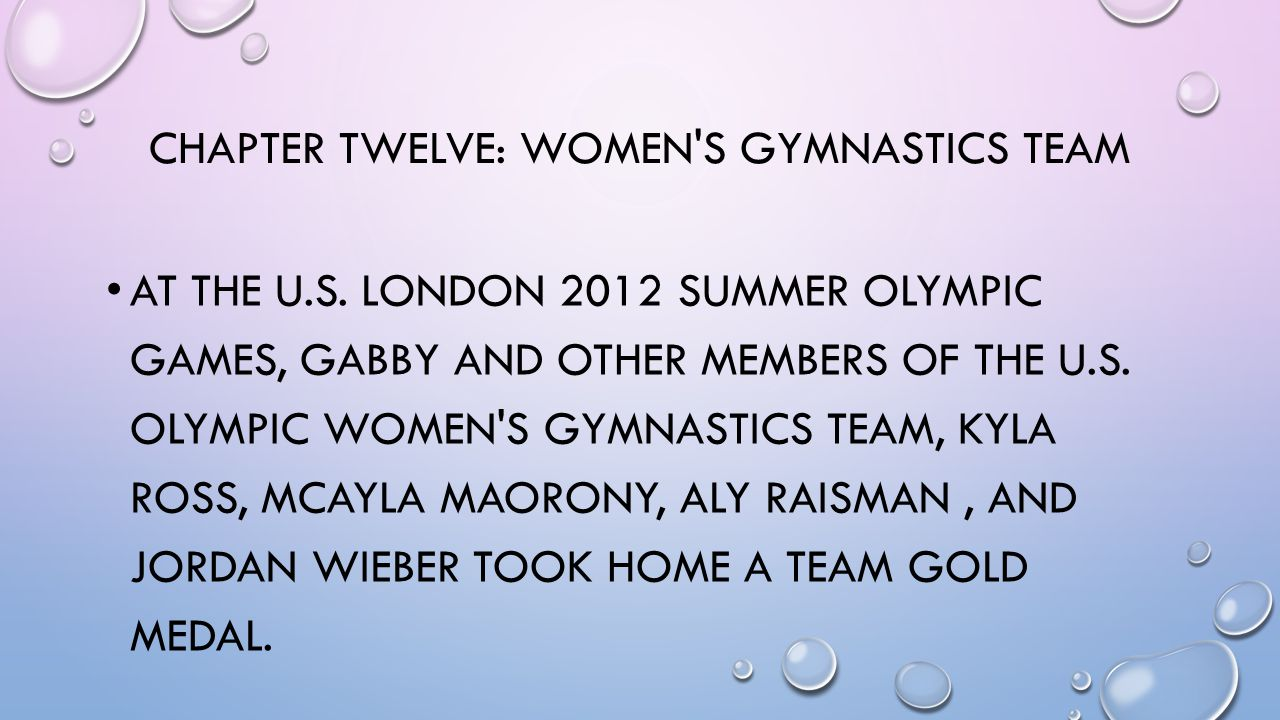 CHAPTER TWELVE: WOMEN S GYMNASTICS TEAM AT THE U.S.