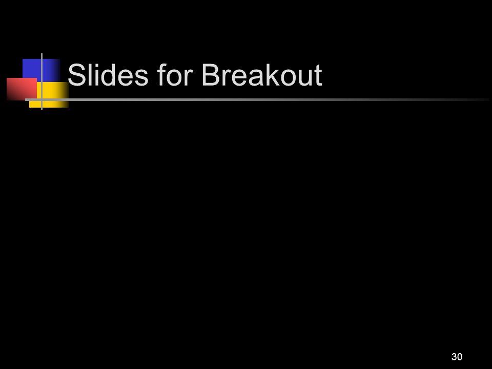 Slides for Breakout 30