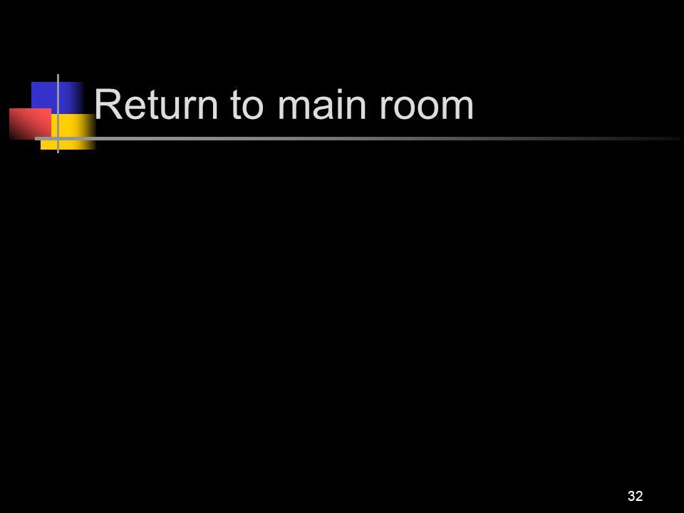 Return to main room 32