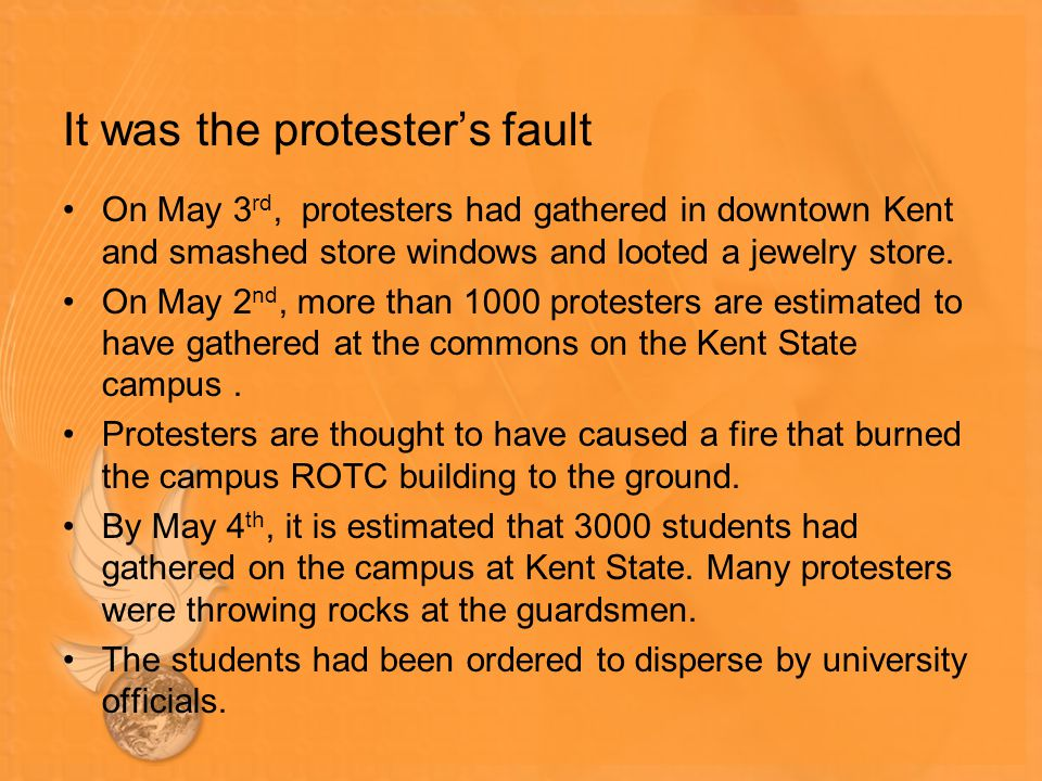 It was the protester's fault