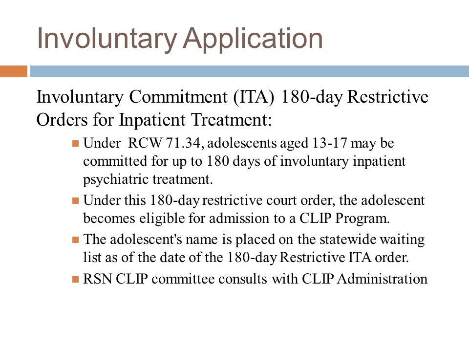 Voluntary Application Two Tiered Process:  A comprehensive application must be submitted to RSN CLIP Coordinator.  Next, a screening date is set for