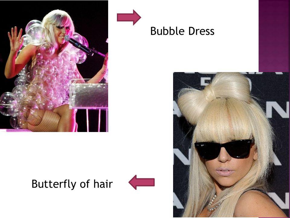 Bubble Dress Butterfly of hair