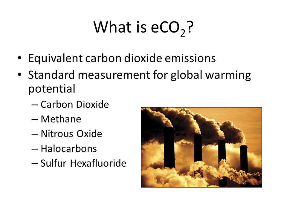 What is eCO 2 .
