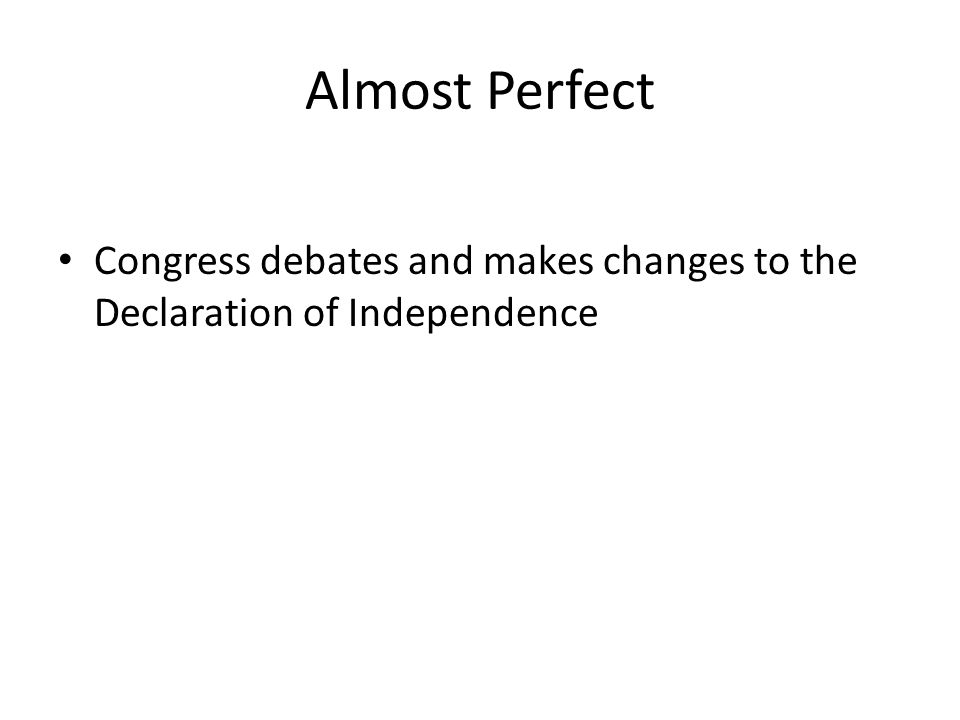 Independence Day Congress officially adopts the Declaration of Independence The United States of America formally declares independence from Great Britain Copies of the Declaration were printed immediately
