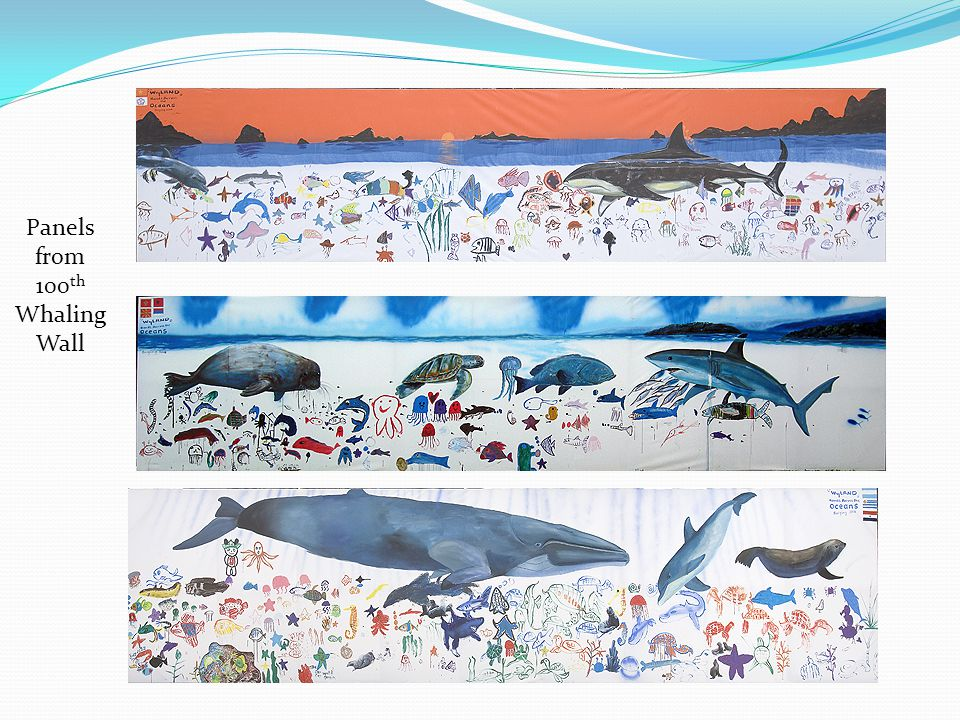 Panels from 100 th Whaling Wall