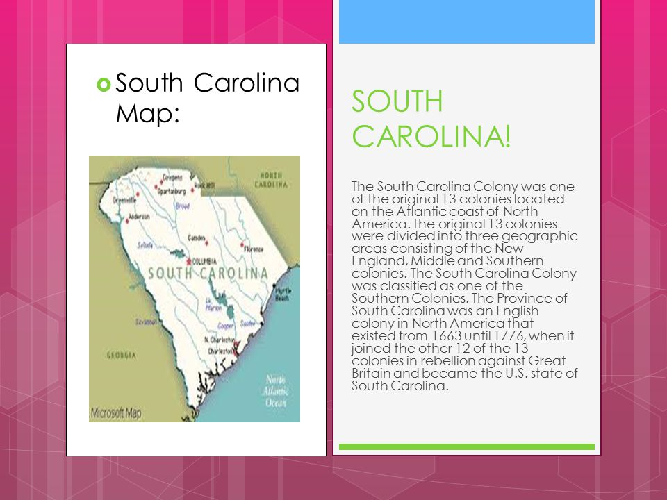  South Carolina Map: SOUTH CAROLINA.