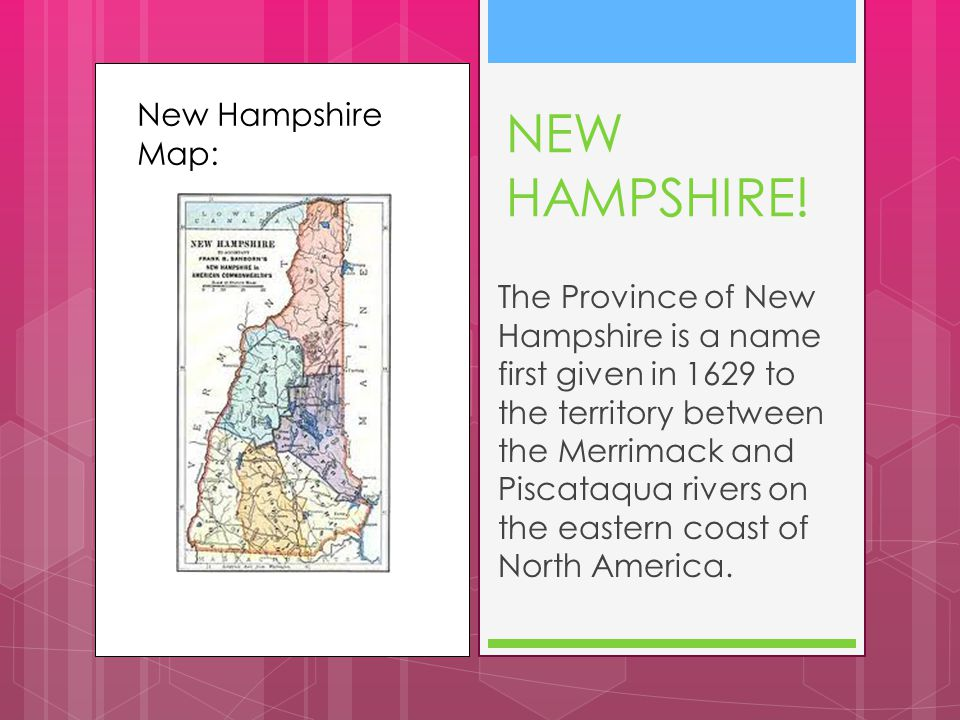 New Hampshire Map: NEW HAMPSHIRE.