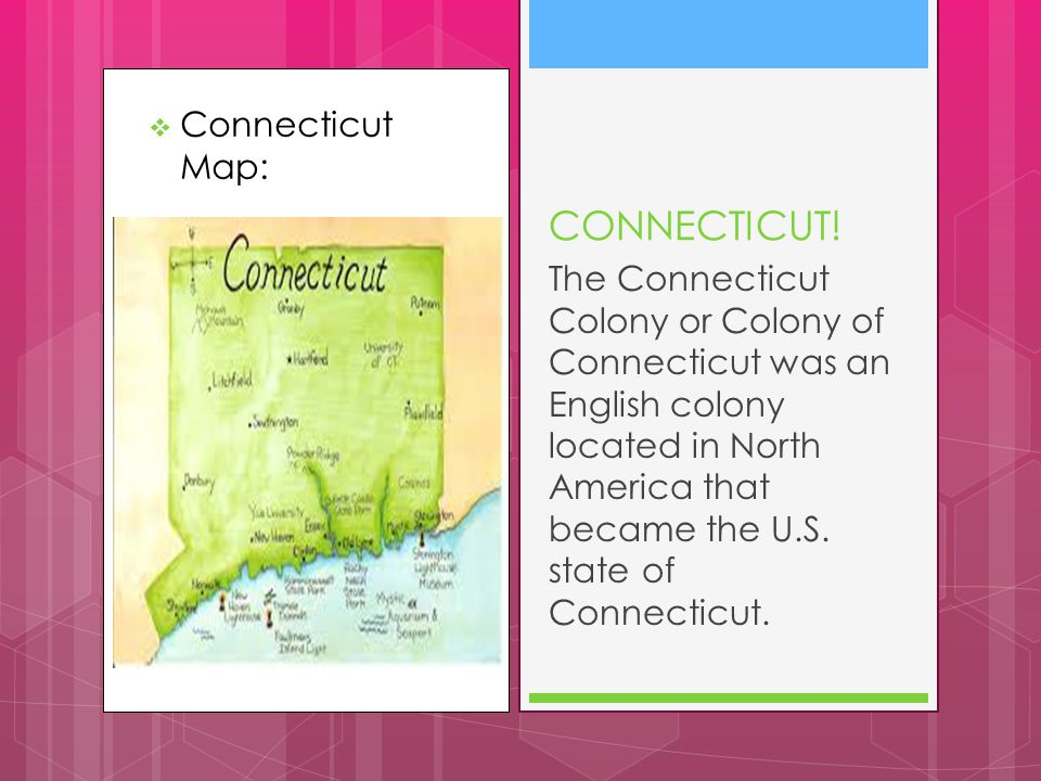  Connecticut Map: CONNECTICUT.