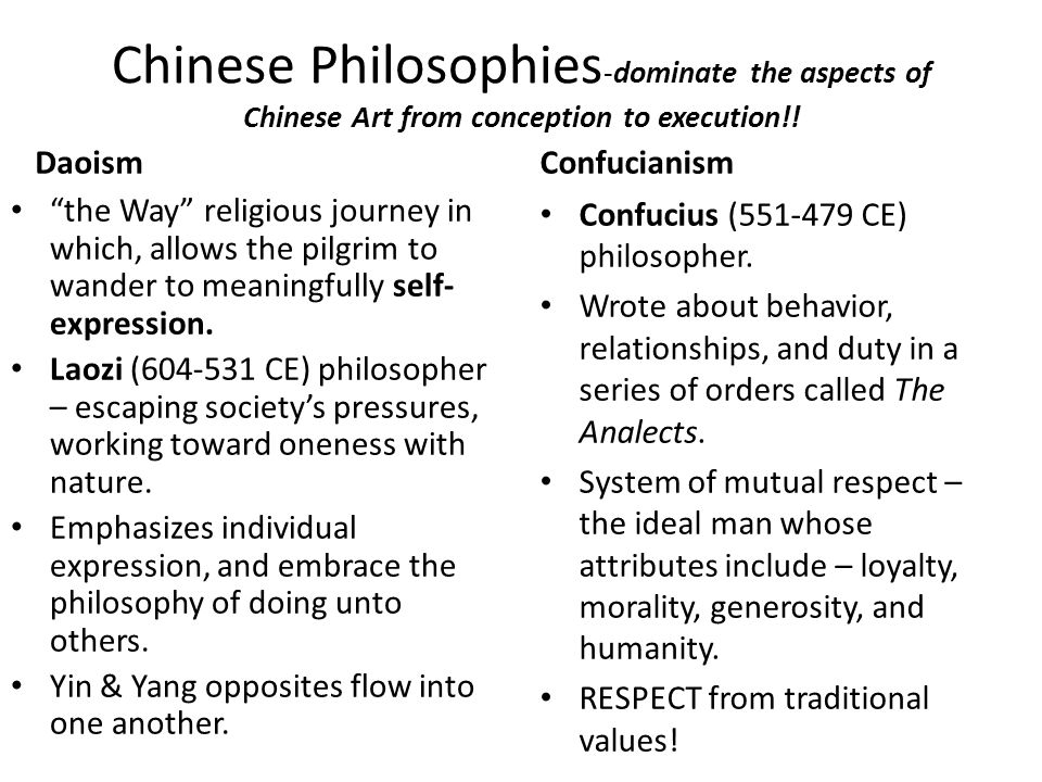 "Chinese Philosophies -dominate the aspects of Chinese Art from conception to execution!! Daoism ""the Way"" religious journey in which, allows the pilgr"