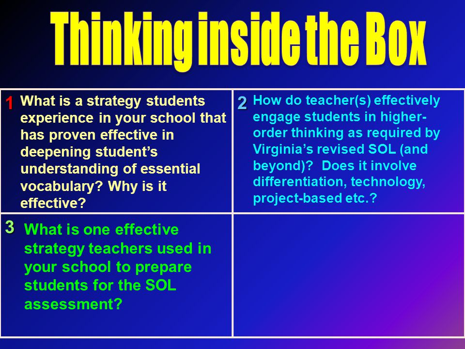 123 What is a strategy students experience in your school that has proven effective in deepening student's understanding of essential vocabulary.