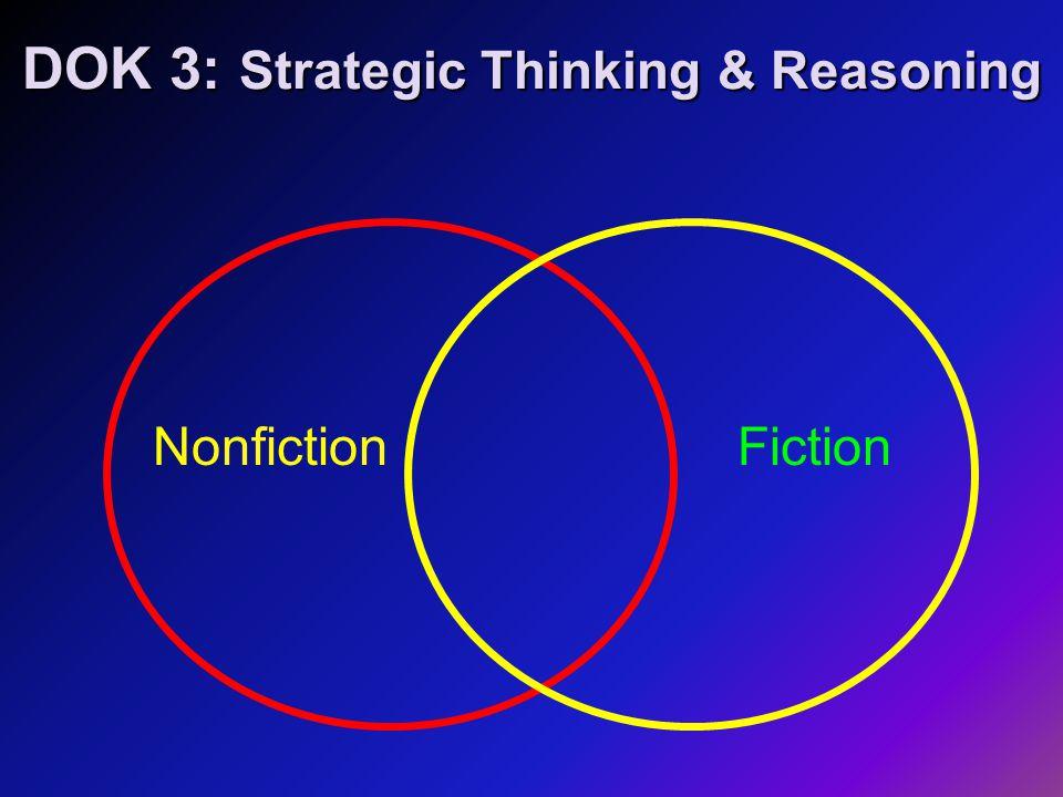 DOK 3: Strategic Thinking & Reasoning NonfictionFiction