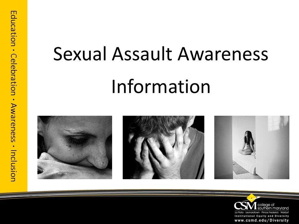 Sexual Assault Awareness Information Education · Celebration · Awareness · Inclusion