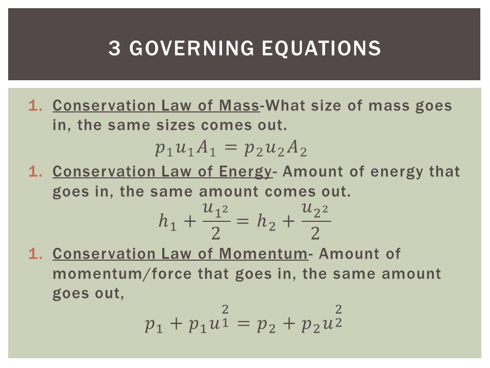 3 GOVERNING EQUATIONS