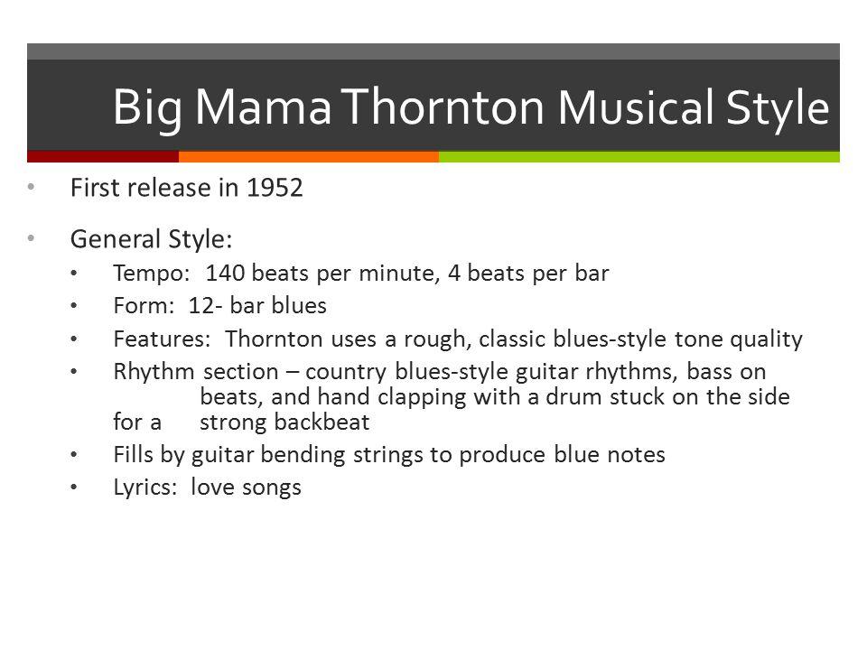 Musical Analysis Tempo: fast 140 beats per minute, 4 beats per bar Form: 12- bar blues Quadruple meter, duple subdivision.
