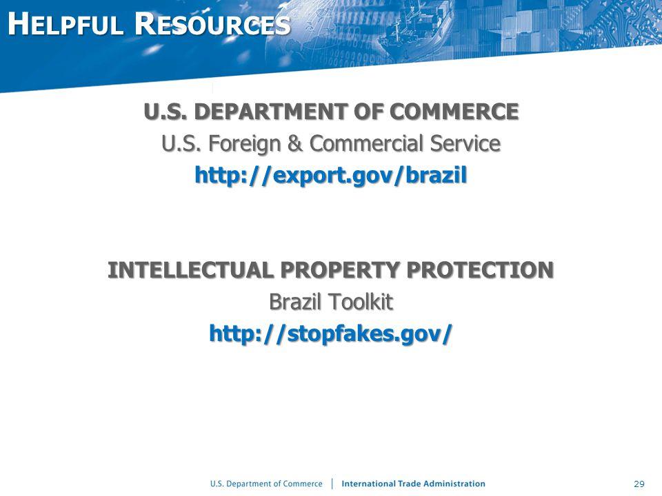 U.S. DEPARTMENT OF COMMERCE U.S.