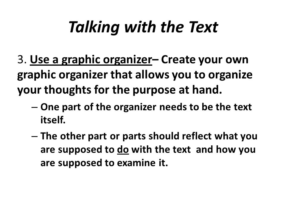 Talking with the Text 3.