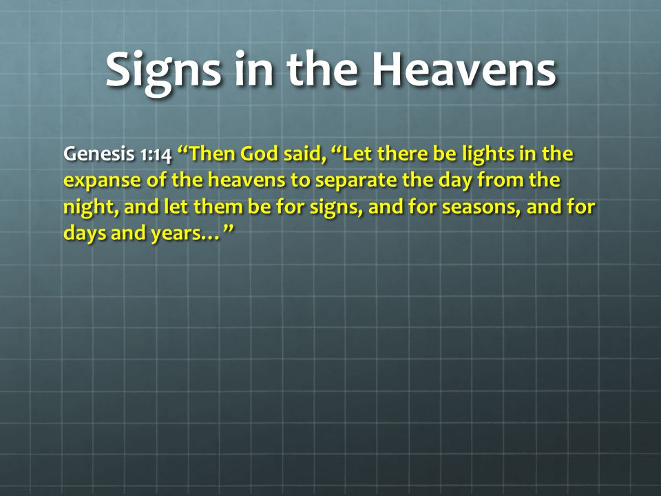 Signs in the Heavens From 2000 – 2100 – Eight Tetrads will occur, but only ONE will fall on Jewish Feast Days---2014-2015 April 15, 2014 Passover April 15, 2014 Passover October 8, 2014 Feast of Tabernacles (Sukkot) October 8, 2014 Feast of Tabernacles (Sukkot) March 20, 2015 A full eclipse of the sun will occur March 20, 2015 A full eclipse of the sun will occur April 4, 2015 Passover April 4, 2015 Passover September 13, 2015 A full eclipse of the sun will occur September 13, 2015 A full eclipse of the sun will occur September 28, 2015 Feast of Tabernacles (Sukkot) September 28, 2015 Feast of Tabernacles (Sukkot)