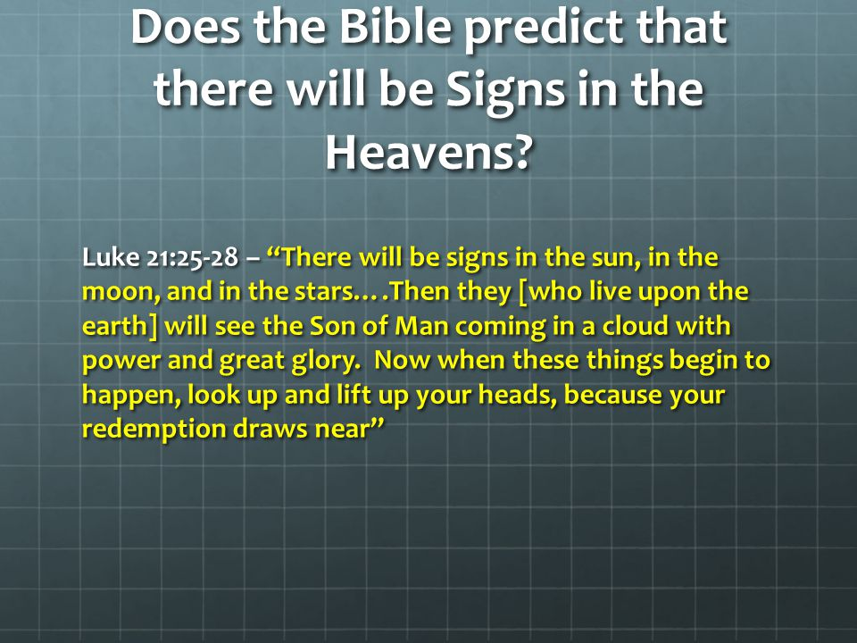 Signs in the Heavens After 2100.