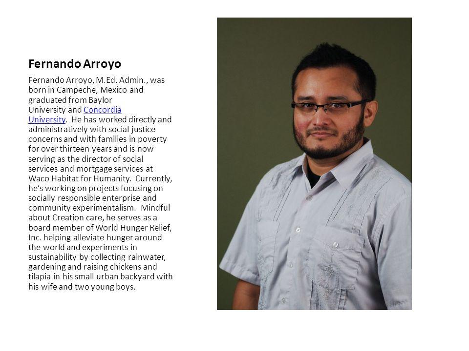 Fernando Arroyo Fernando Arroyo, M.Ed.