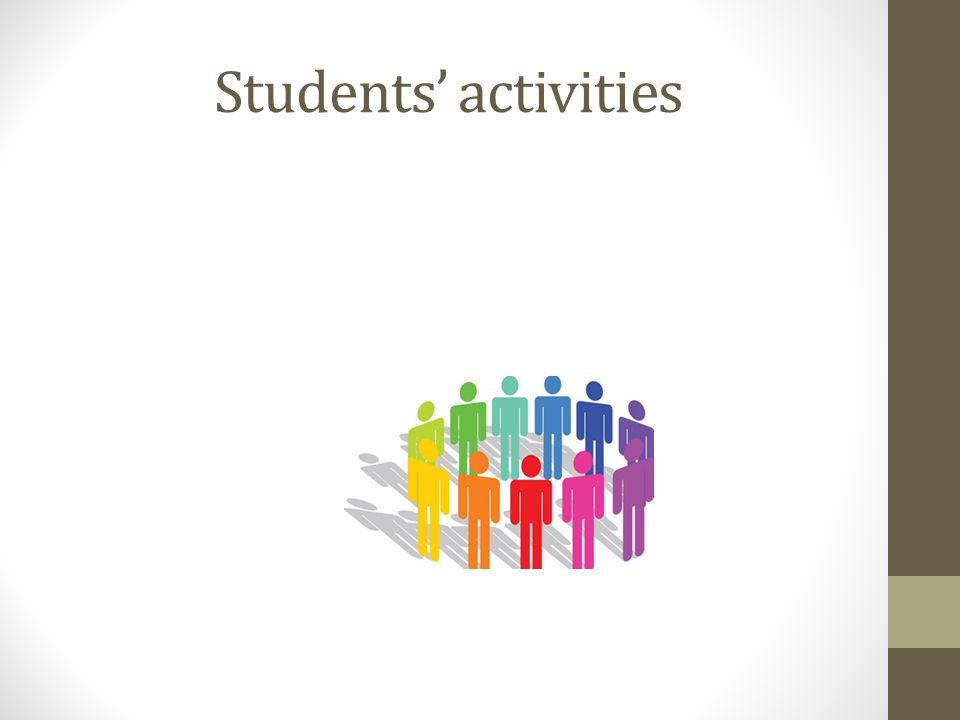 Students' activities