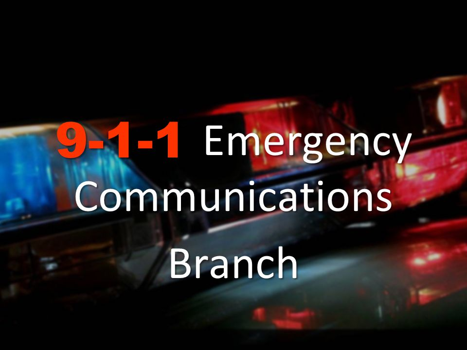 9-1-1 Emergency Communications Branch Oversight and administration of the State Emergency Telephone Number Account Fund (SETNA) Administration and funding for equipment and network services related to the routing and answering of 9-1-1 calls handled by approximately 460 police, fire, and emergency medical dispatch centers, also known as Public Safety Answering Points (PSAPs) Establish Statewide technical and operational standards to deliver 9-1-1 services Manage new technologies supporting 9-1-1 Govern the State 9-1-1 Advisory Board Manage the activities of fifty-eight 9-1-1 County Coordinators CA 9-1-1 Branch is responsible for the overall Program Management of 9-1-1 Services in California